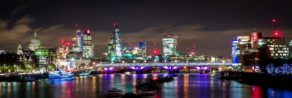London Skyline from River Thames